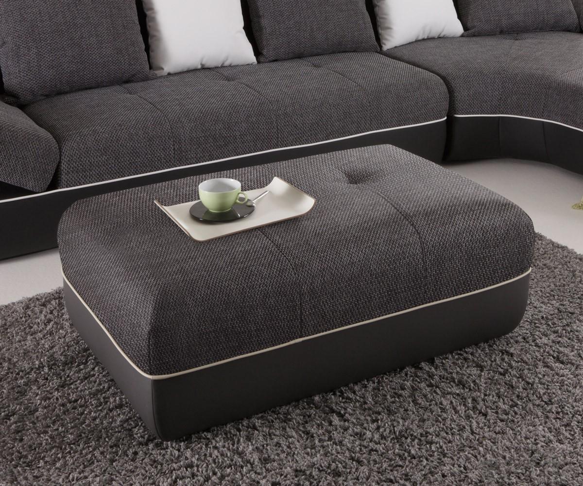 hocker felipa 118x79 cm schwarz sitzhocker sofa hocker polsterhocker neu ebay. Black Bedroom Furniture Sets. Home Design Ideas