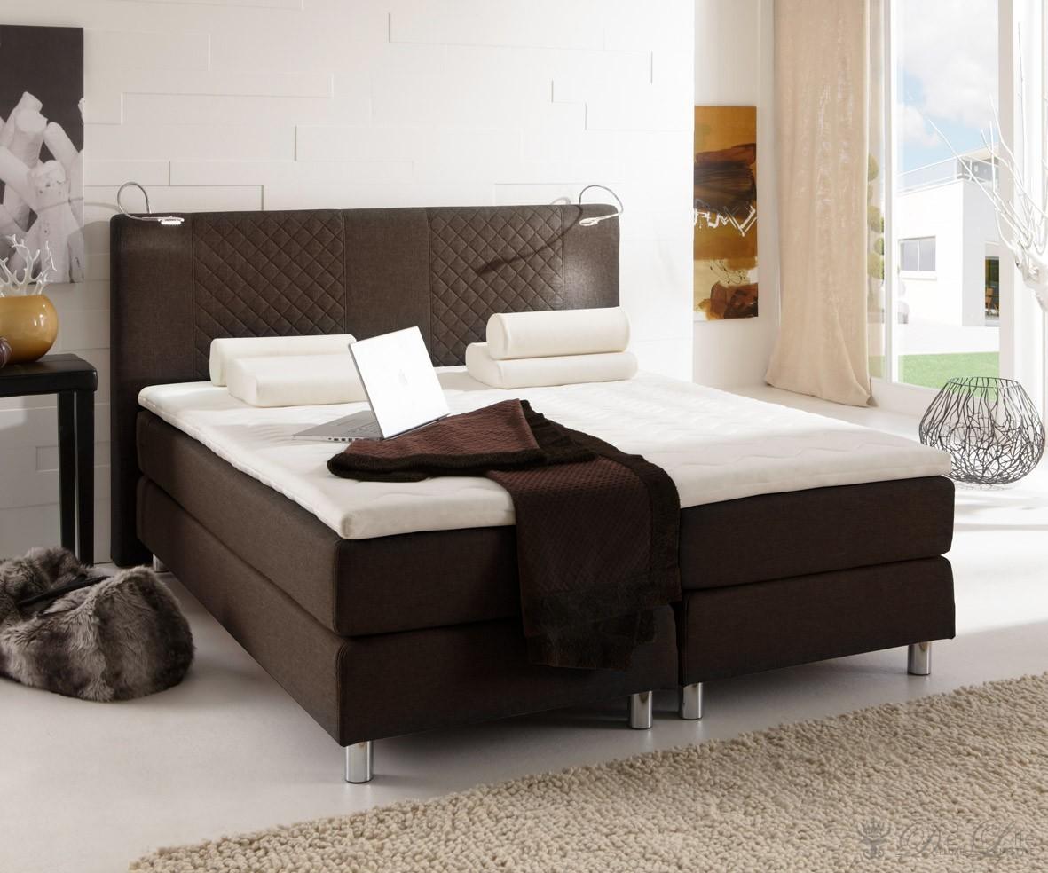 boxspringbett leder braun boxspringbetten 2017. Black Bedroom Furniture Sets. Home Design Ideas