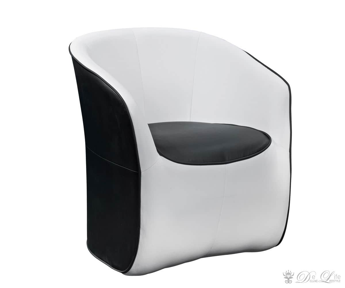 lounge sessel meo schwarz weiss cocktailsessel ebay. Black Bedroom Furniture Sets. Home Design Ideas