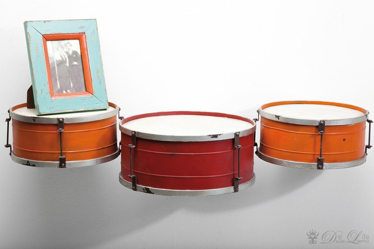 wandregal snare drum 96x18 cm orange rot regal. Black Bedroom Furniture Sets. Home Design Ideas