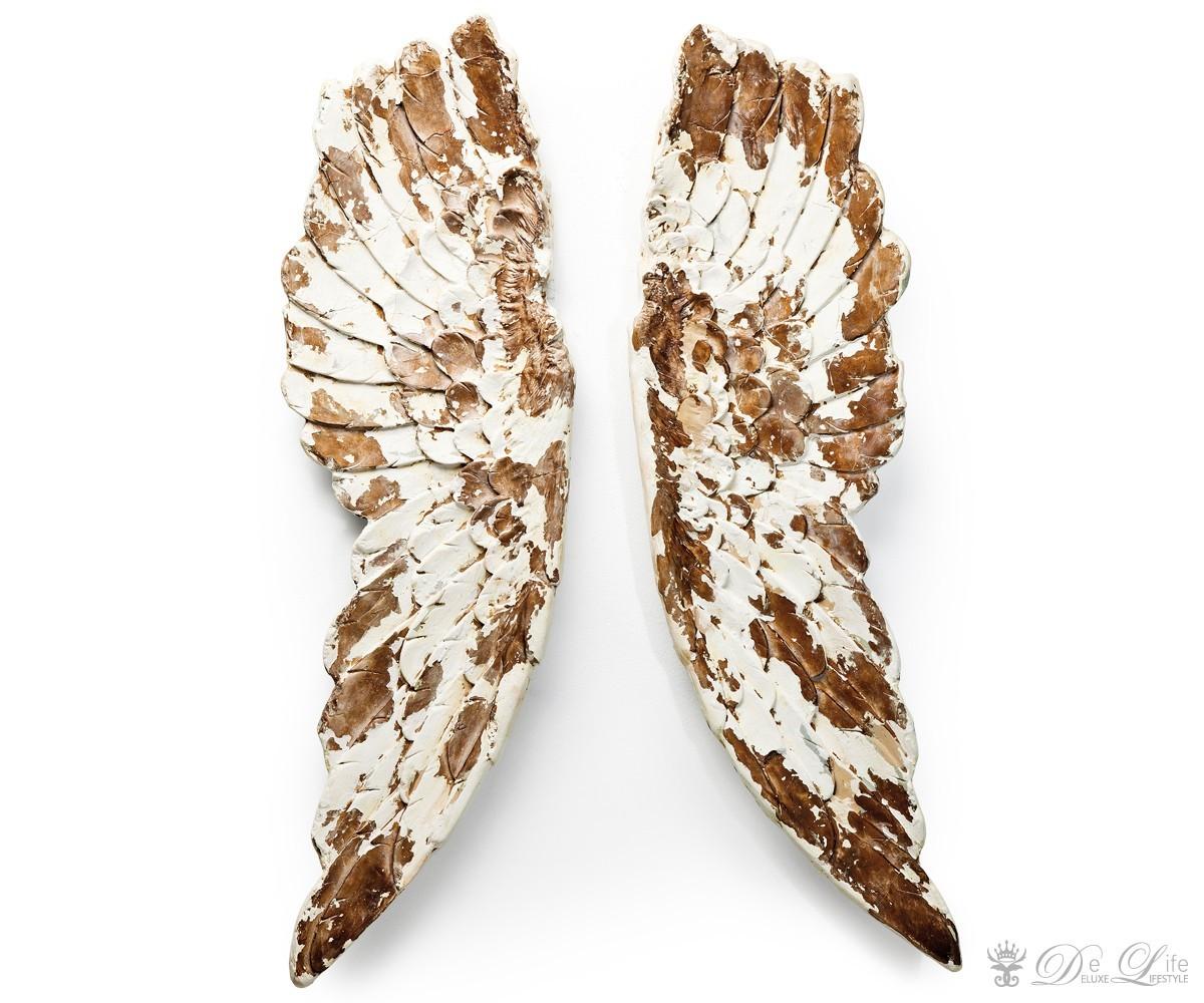 wanddeko antique wings weiss goldfarben 66x105 wandschmuck by kare ebay. Black Bedroom Furniture Sets. Home Design Ideas
