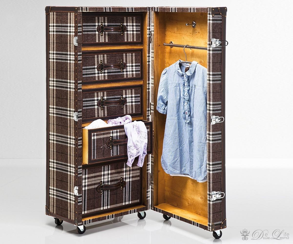 schrankkoffer highlands 51x126 cm braun kariert. Black Bedroom Furniture Sets. Home Design Ideas