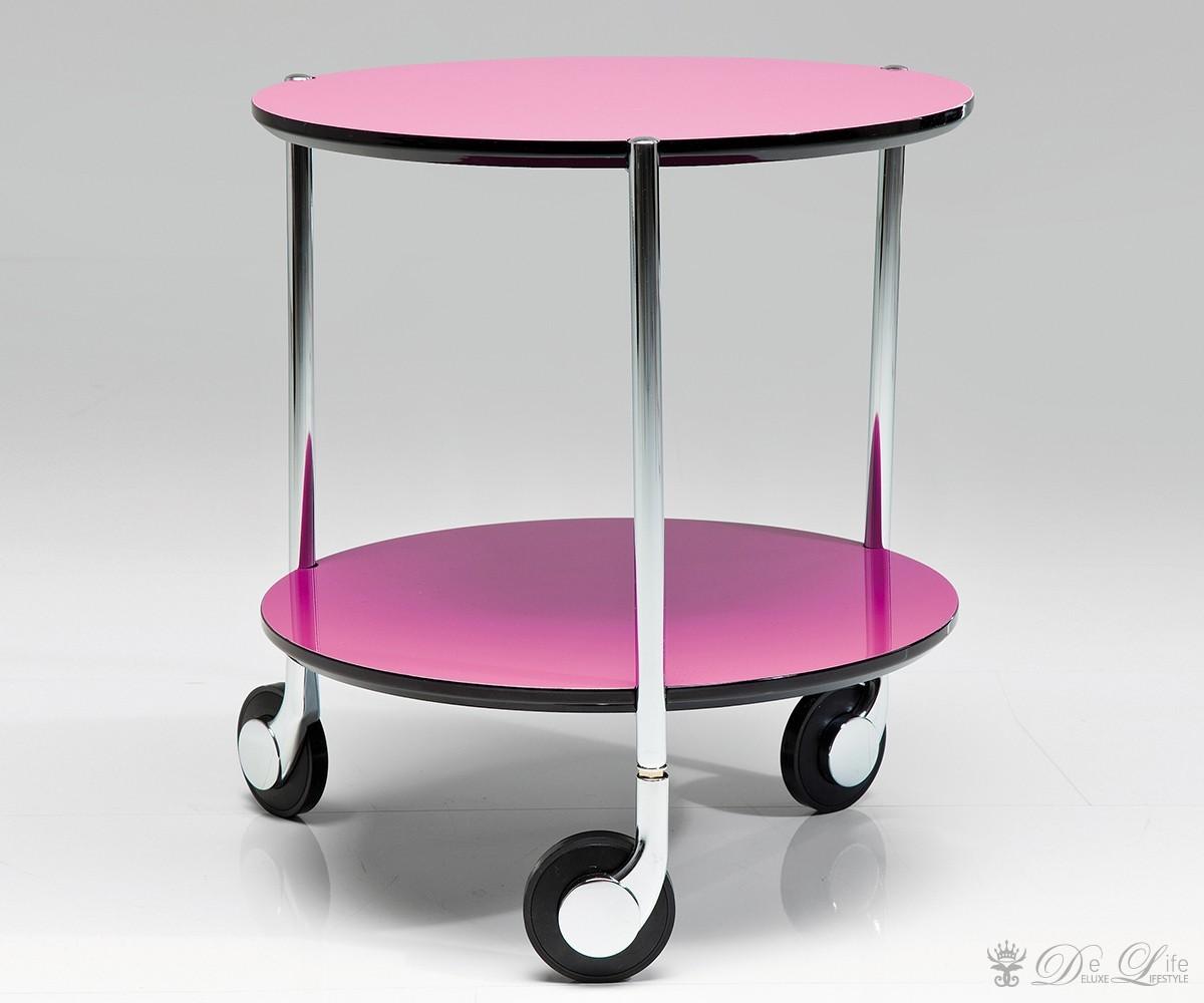 beistelltisch doppio 40 cm pink hochglanz wohnzimmertisch