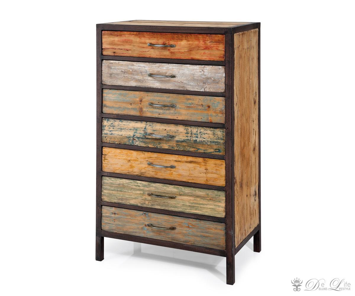 Kommoden Kare Design : Kare Design Hochkommode Colorful Wood 68x120 Bunt Holz Schrank 7 SK by ...