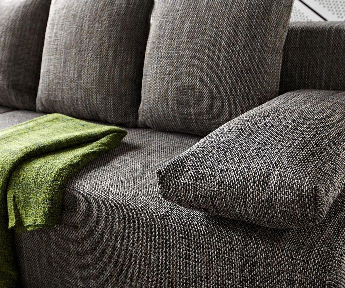 ecksofa janelle 200x155 grau mit schlaffunktion variabel m bel sofas. Black Bedroom Furniture Sets. Home Design Ideas
