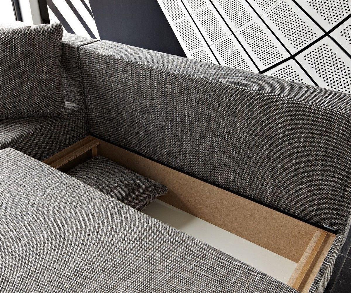 ecksofa janelle 200x155 grau mit schlaffunktion variabel. Black Bedroom Furniture Sets. Home Design Ideas