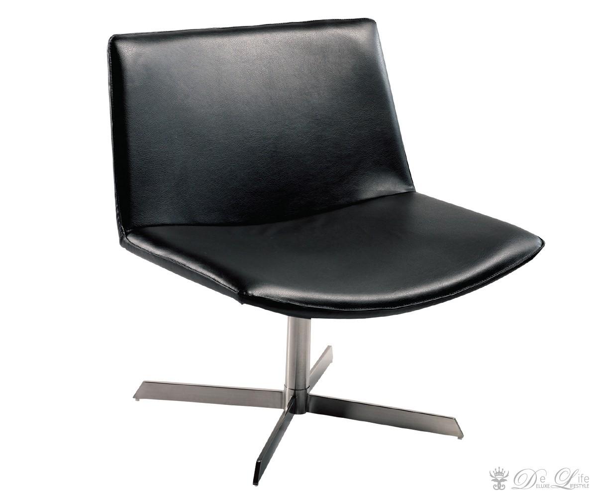 lounge chair nevan schwarz gestell edelstahl drehstuhl. Black Bedroom Furniture Sets. Home Design Ideas