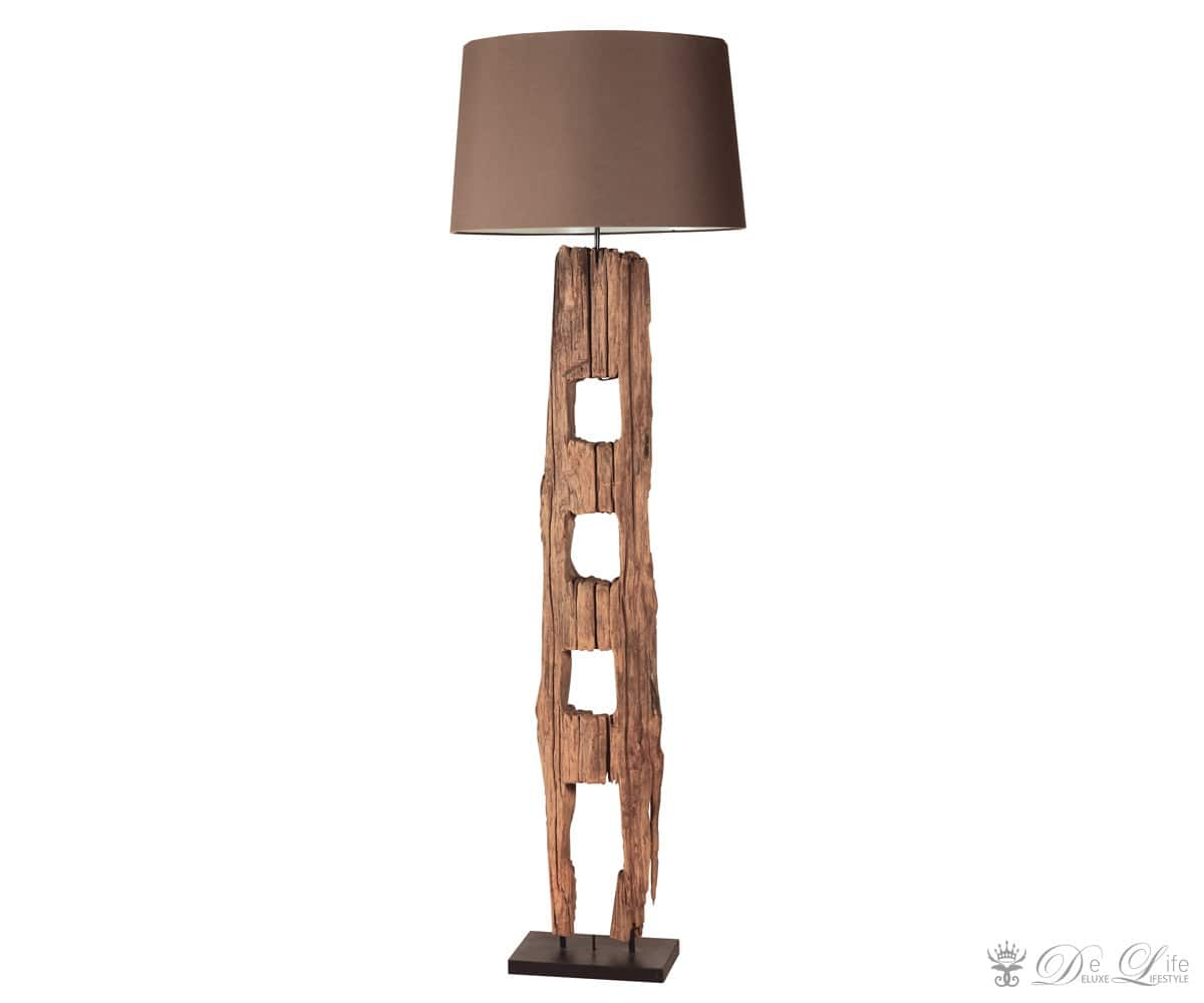 stehleuchte aidan 30x173 cm braun holz stehlampe standleuchte design lampe neu ebay. Black Bedroom Furniture Sets. Home Design Ideas