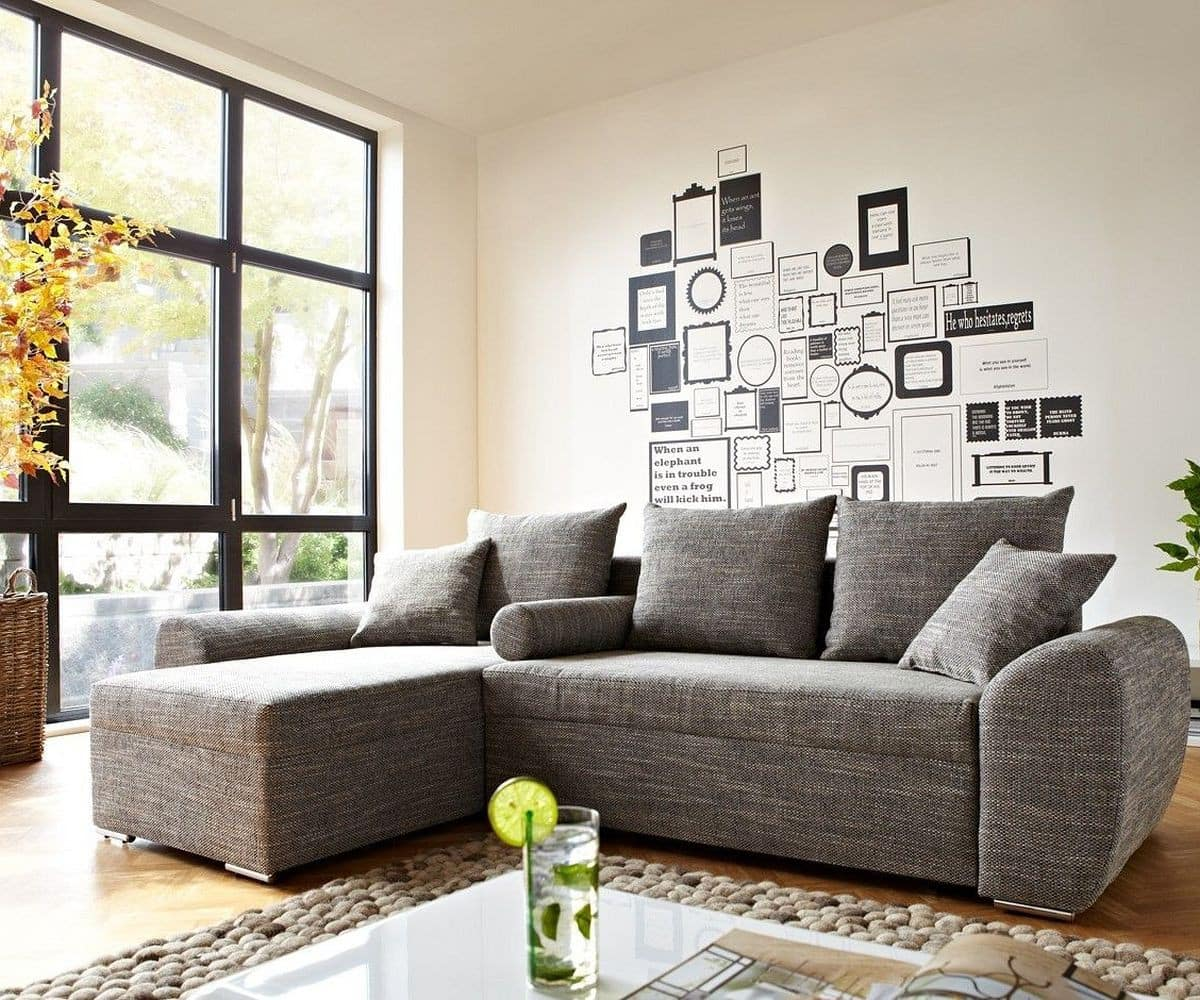 ecksofa rudy 260x160 hellgrau schlaffunktion variabel m bel sofas ecksofas. Black Bedroom Furniture Sets. Home Design Ideas