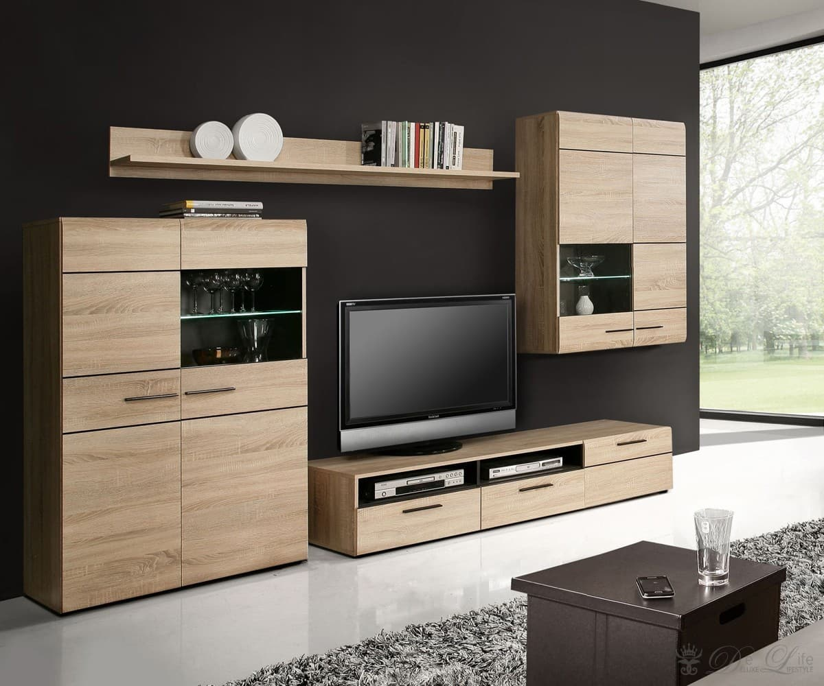 Wohnwand echtholz hochwertig echtholz wohnzimmer schrank for Echtholz wohnwand