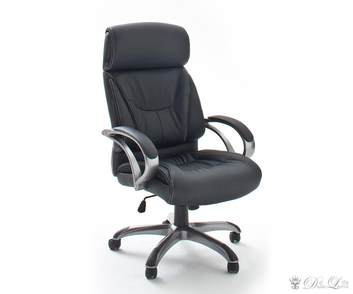 ... Schreibtischstuhl-Riley-Schwarz-Buerostuhl -drehbar-hoehenverstellbar-Arbeitsstuhl