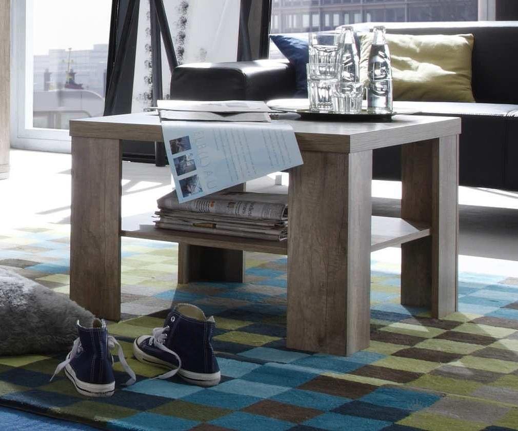 couchtisch 120x60 cm teilmassiv wei eiche san remo sofatisch wohnzimmertisch ebay. Black Bedroom Furniture Sets. Home Design Ideas