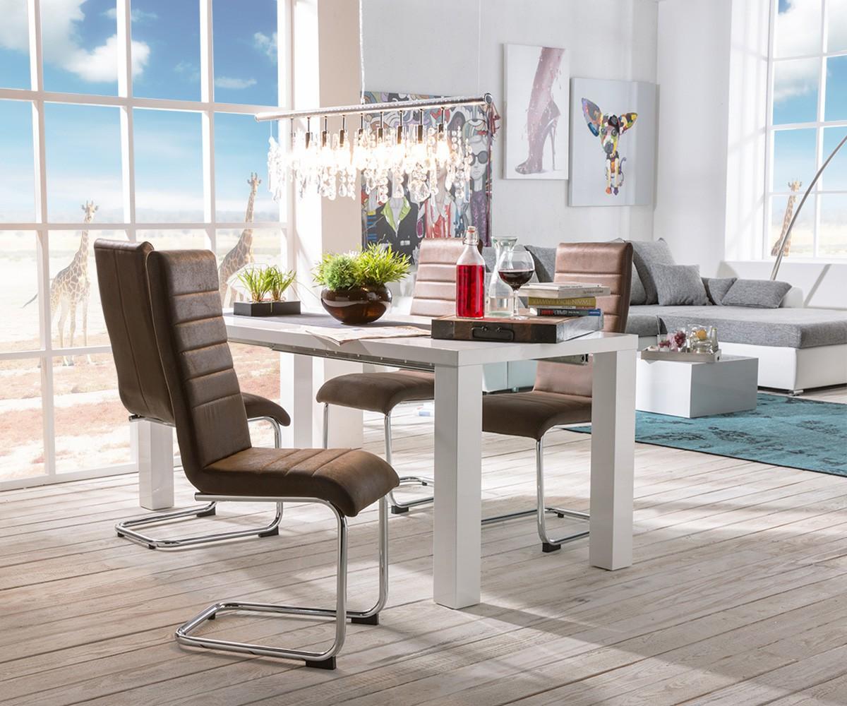 Antik stuhl mit leder sonstige preisvergleiche for Design stuhl charly