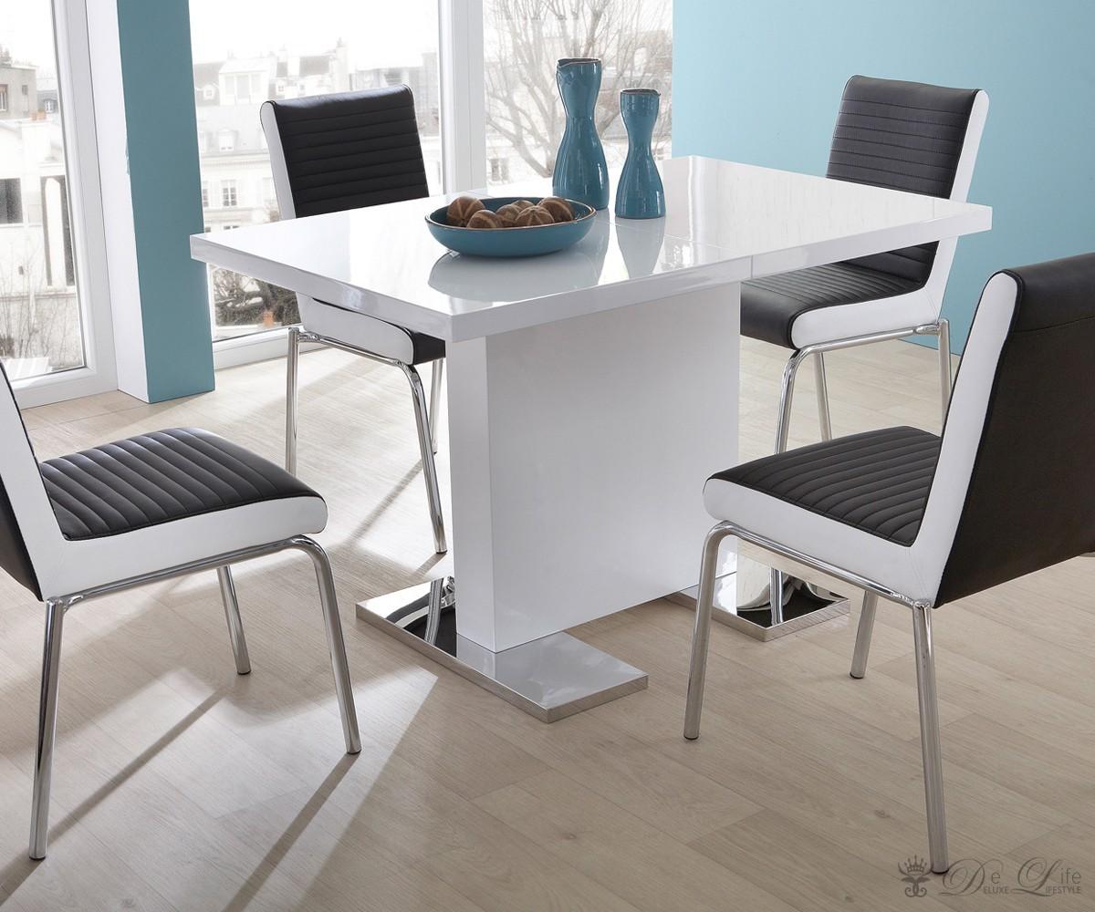 esstisch wei hochglanz 140 x 80 die neuesten innenarchitekturideen. Black Bedroom Furniture Sets. Home Design Ideas