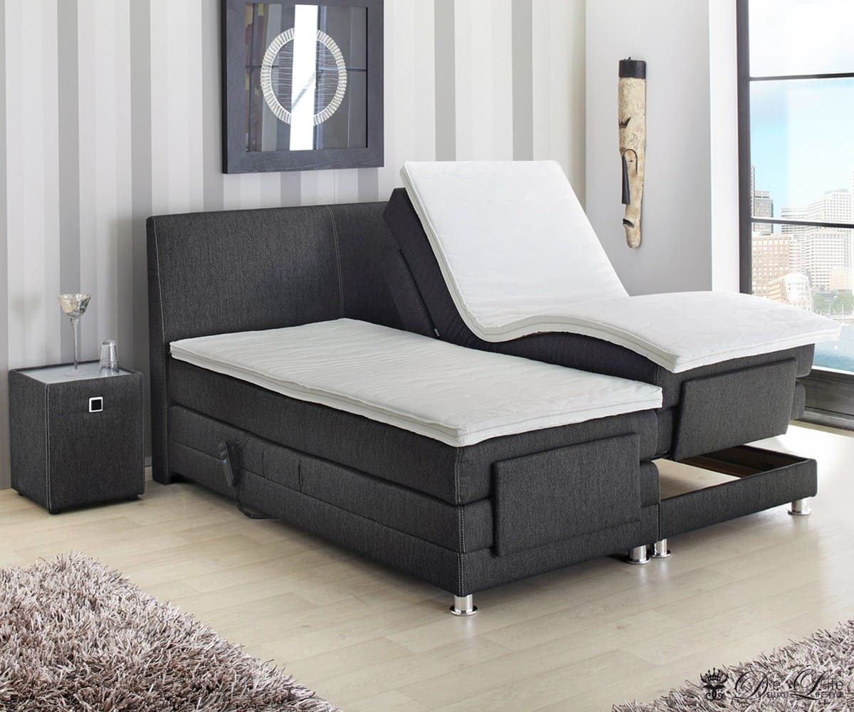 boxspringbett liam 180x200 schwarz bett mit matratze motorrahmen doppelbett neu ebay. Black Bedroom Furniture Sets. Home Design Ideas