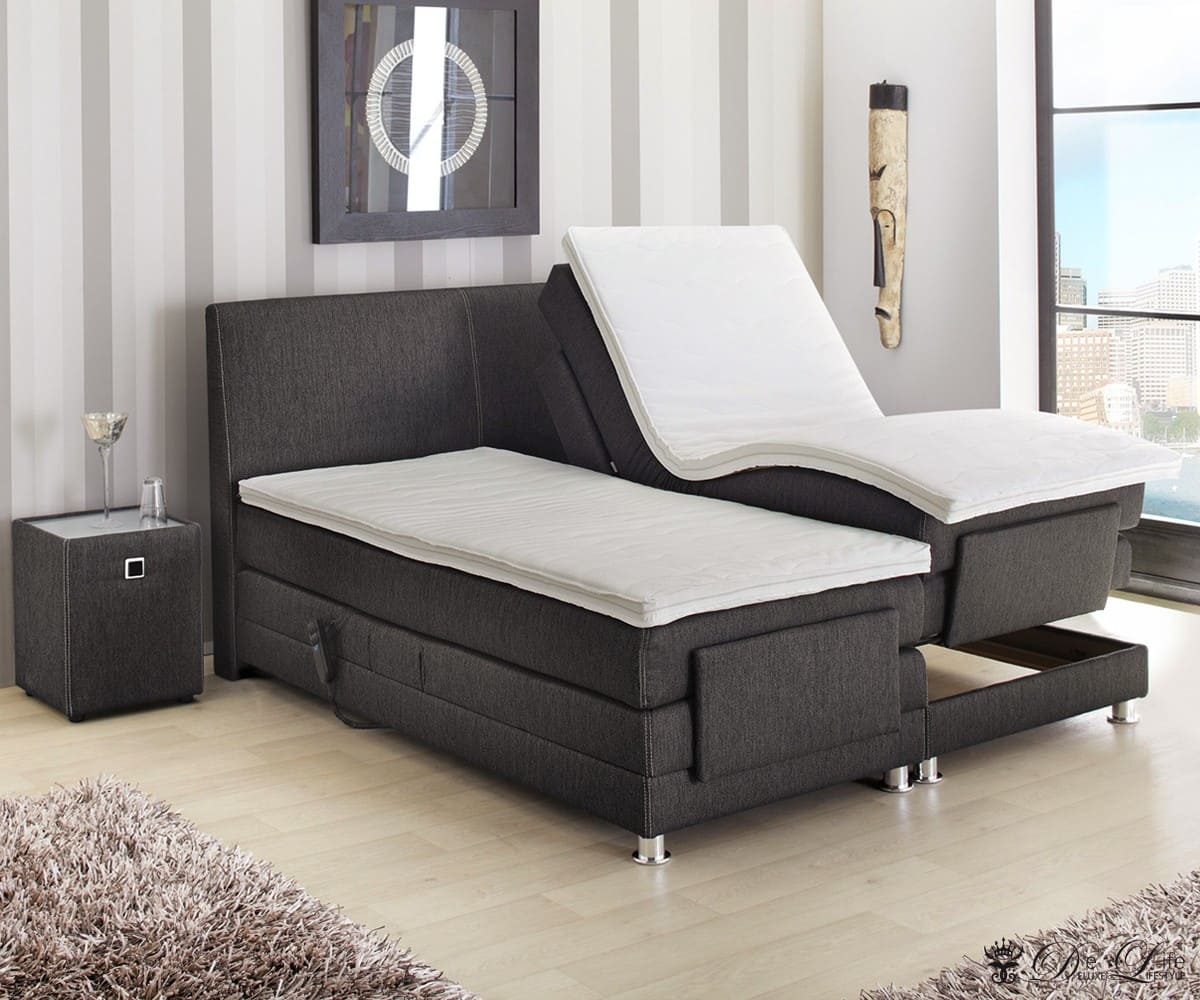 boxspringbett liam 180x200 braun bett mit matratze u. Black Bedroom Furniture Sets. Home Design Ideas