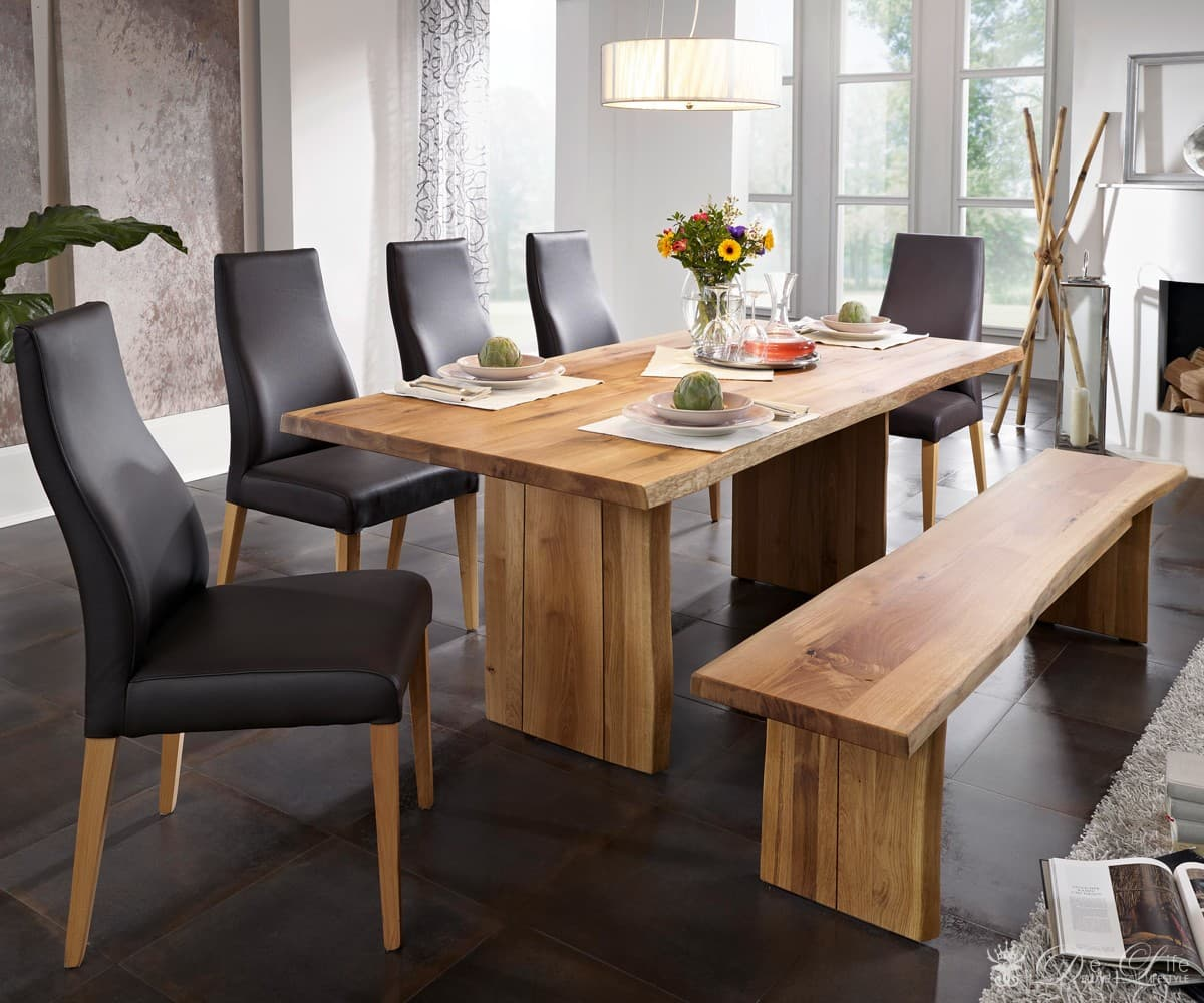 holztisch sedit wildeiche ge lt 200x90 cm esstisch massiv ebay. Black Bedroom Furniture Sets. Home Design Ideas
