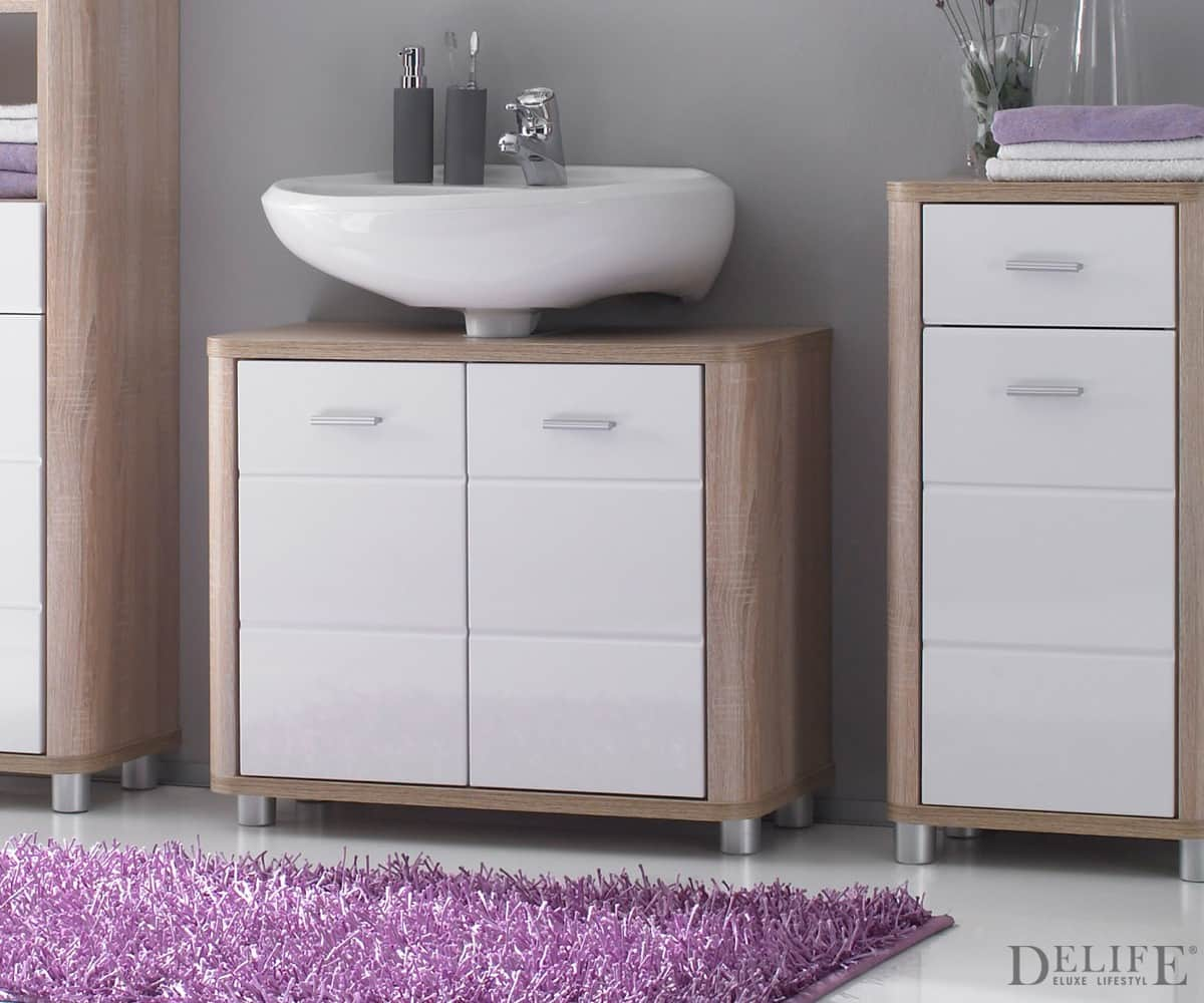 waschbeckenunterschrank mit schubladen bad unterschrank. Black Bedroom Furniture Sets. Home Design Ideas
