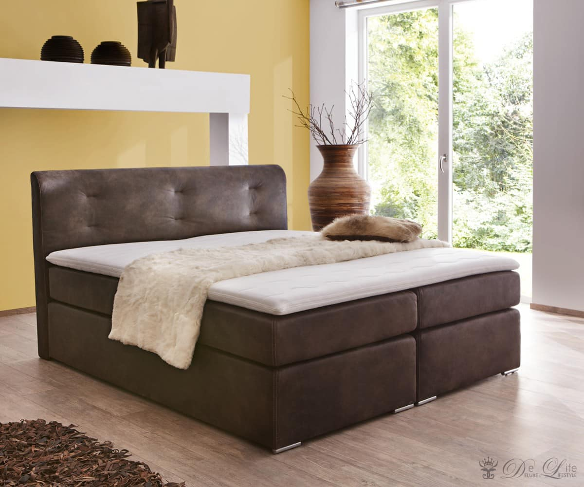 delife bett arwen 180x200 cm weiss brombeer design bett. Black Bedroom Furniture Sets. Home Design Ideas