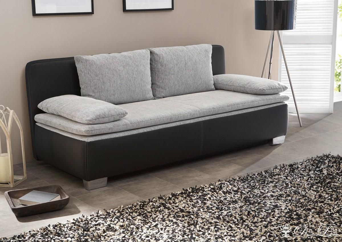 schlafsofa tolga 202x96 weiss hellgrau couch mit startseite design bilder. Black Bedroom Furniture Sets. Home Design Ideas