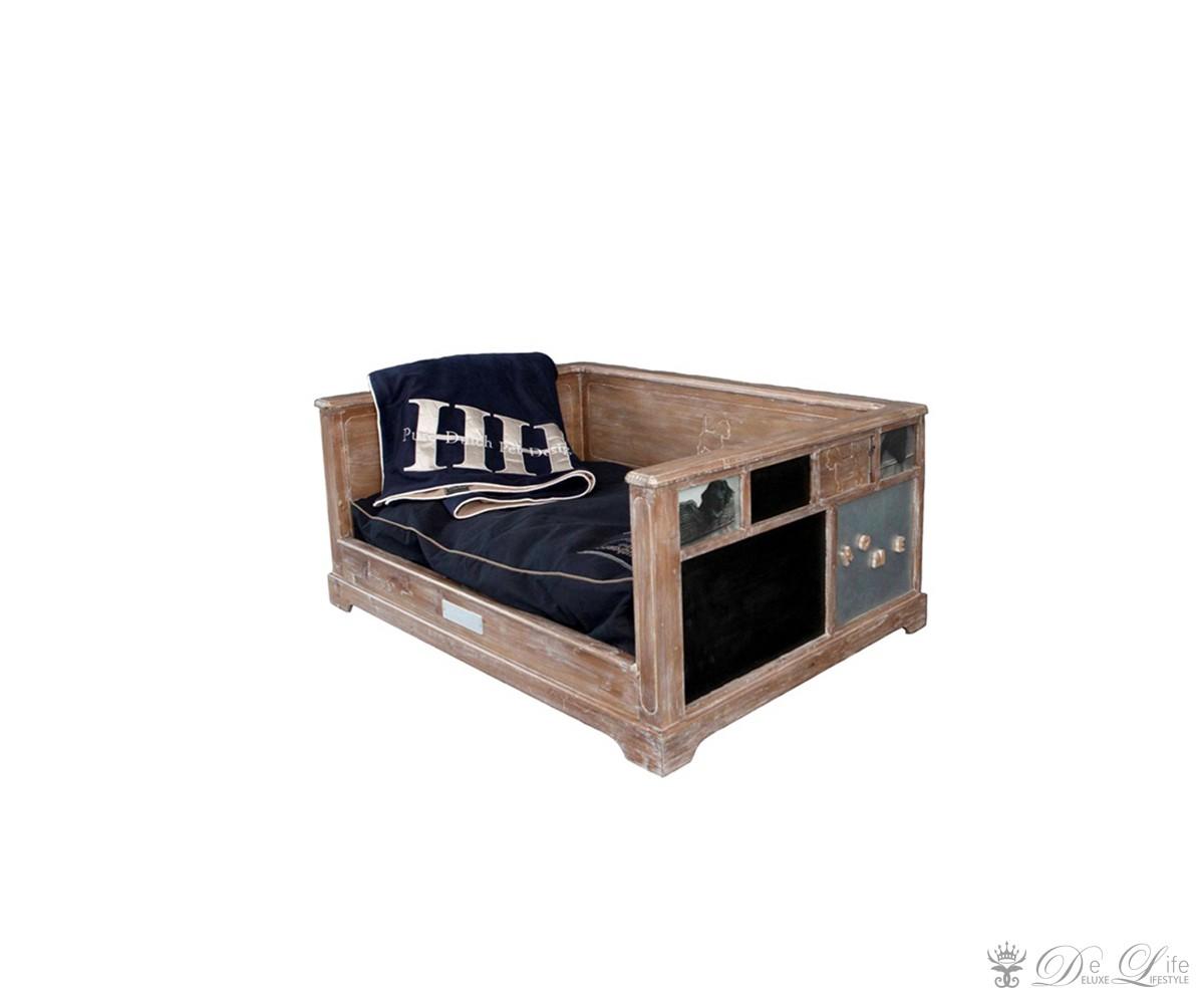 hundebett fahro 75x58 holz hundekorb mit kissen hundesofa. Black Bedroom Furniture Sets. Home Design Ideas