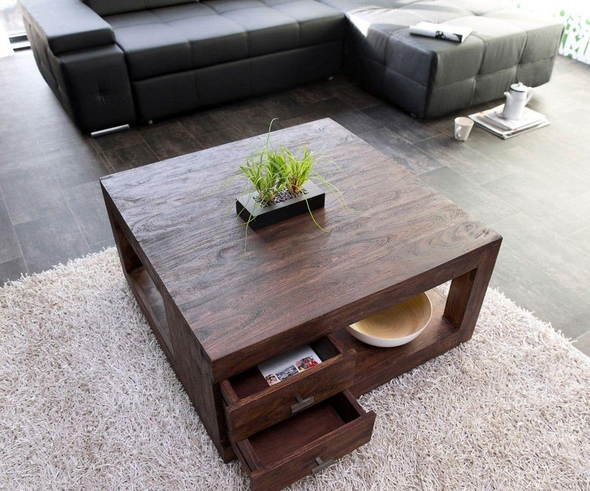 couchtisch guru 90x90 akazie tabak 2 sch be by wolf m bel. Black Bedroom Furniture Sets. Home Design Ideas
