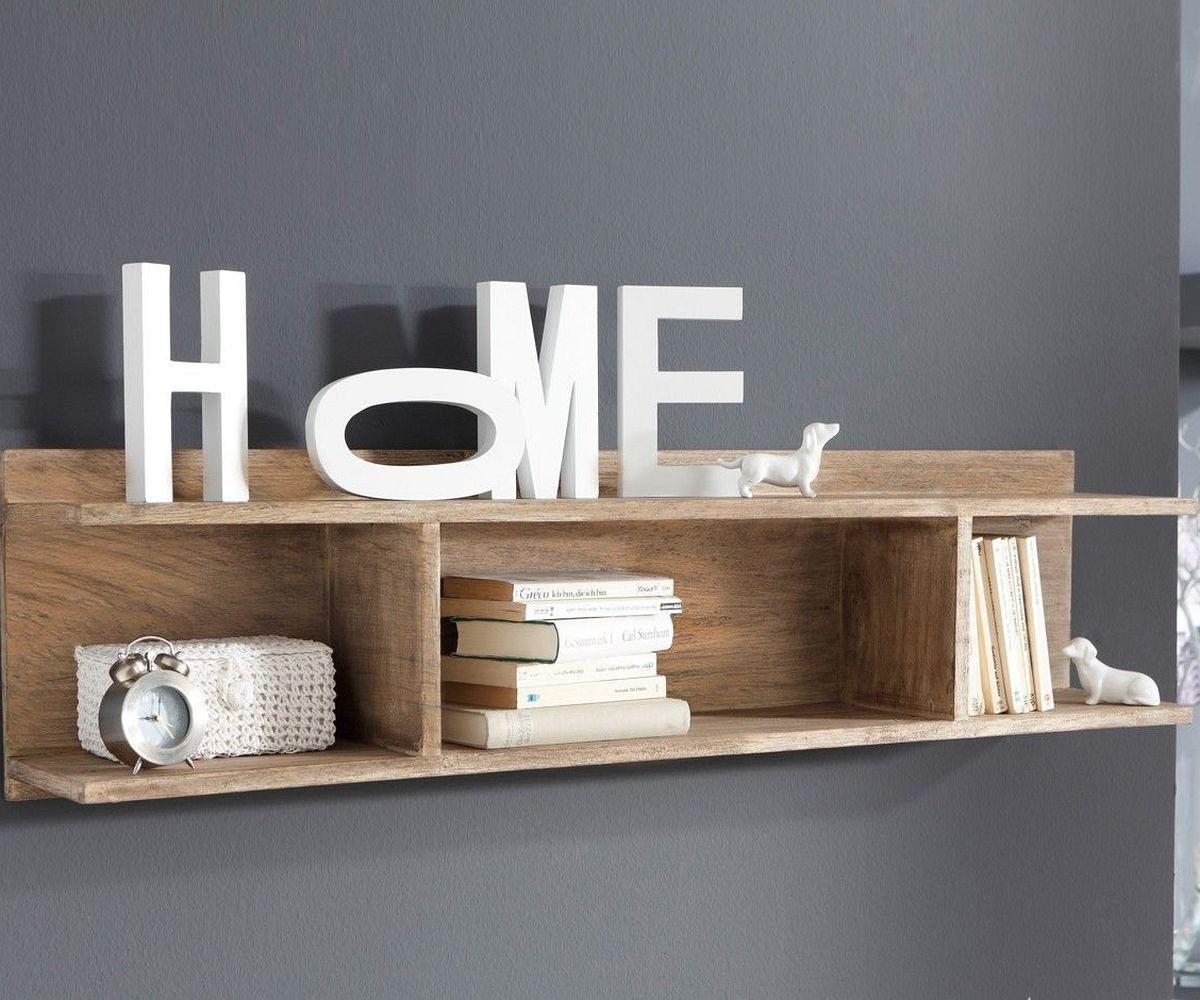 wandboard guru 120x30 akazie stone 2 ablagen by wolf m bel. Black Bedroom Furniture Sets. Home Design Ideas