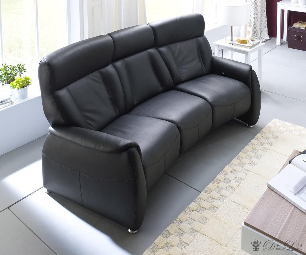 relaxsessel taida 210x90 cm schwarz leder relaxsofa 3 sitzer fernsehsessel neu ebay. Black Bedroom Furniture Sets. Home Design Ideas