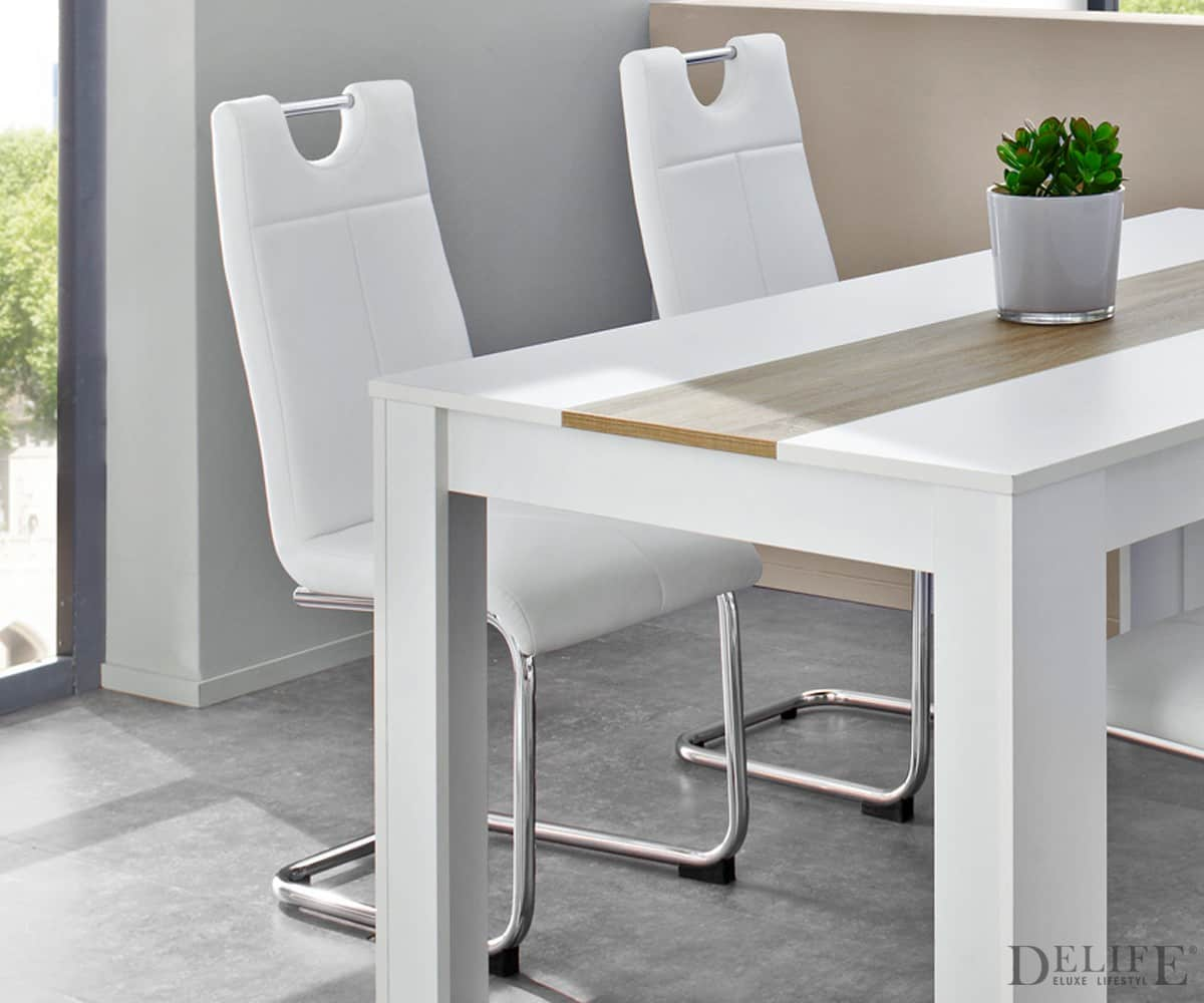 freischwinger louanne weiss abgesteppt esszimmerstuhl m. Black Bedroom Furniture Sets. Home Design Ideas