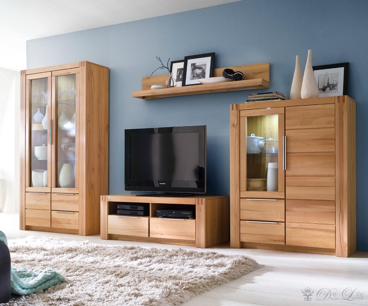 wohnwand buche nachbildung die neuesten. Black Bedroom Furniture Sets. Home Design Ideas