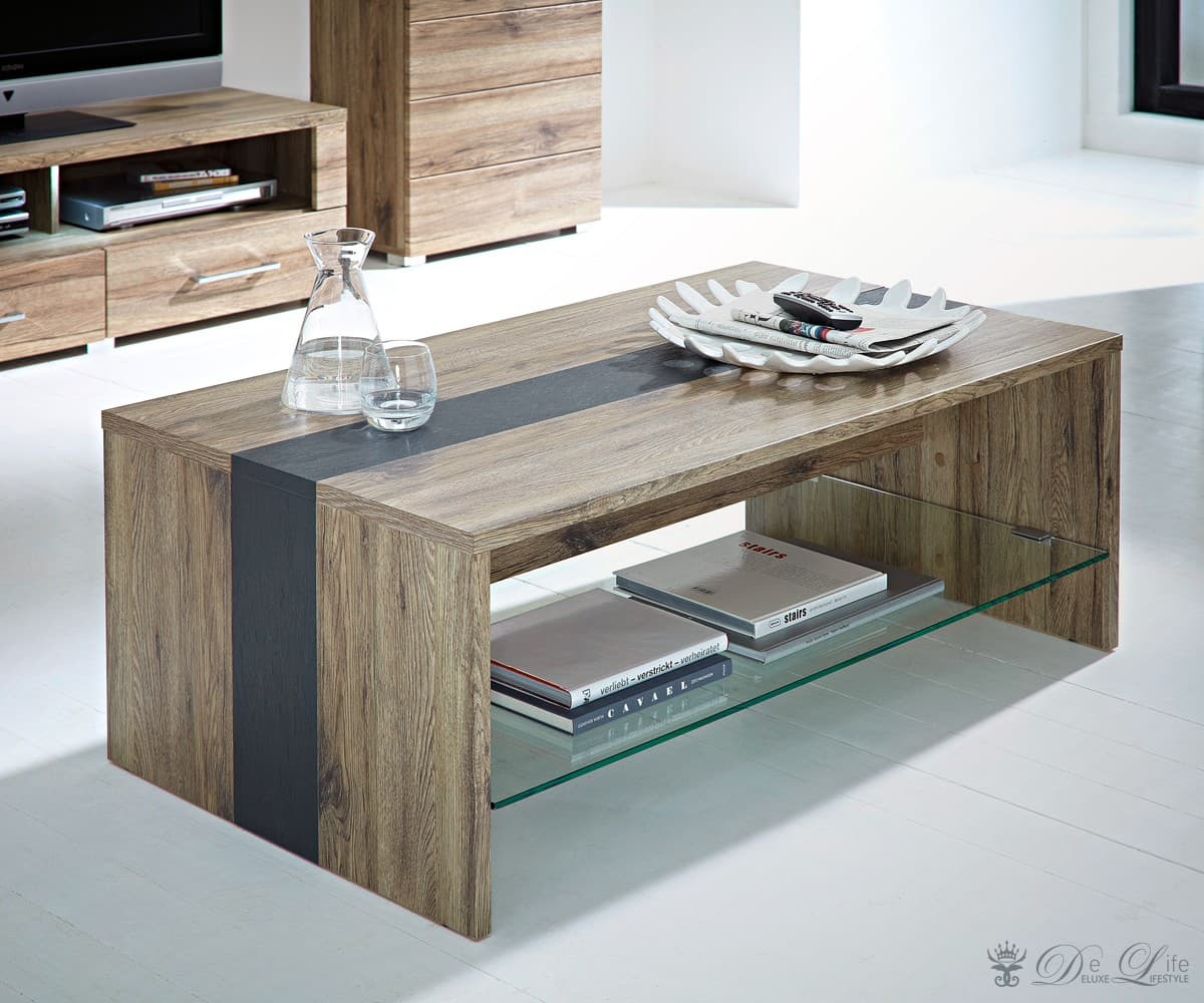 wohnzimmertisch daryl san remo eiche dekor 115x65 cm couchtisch ebay. Black Bedroom Furniture Sets. Home Design Ideas