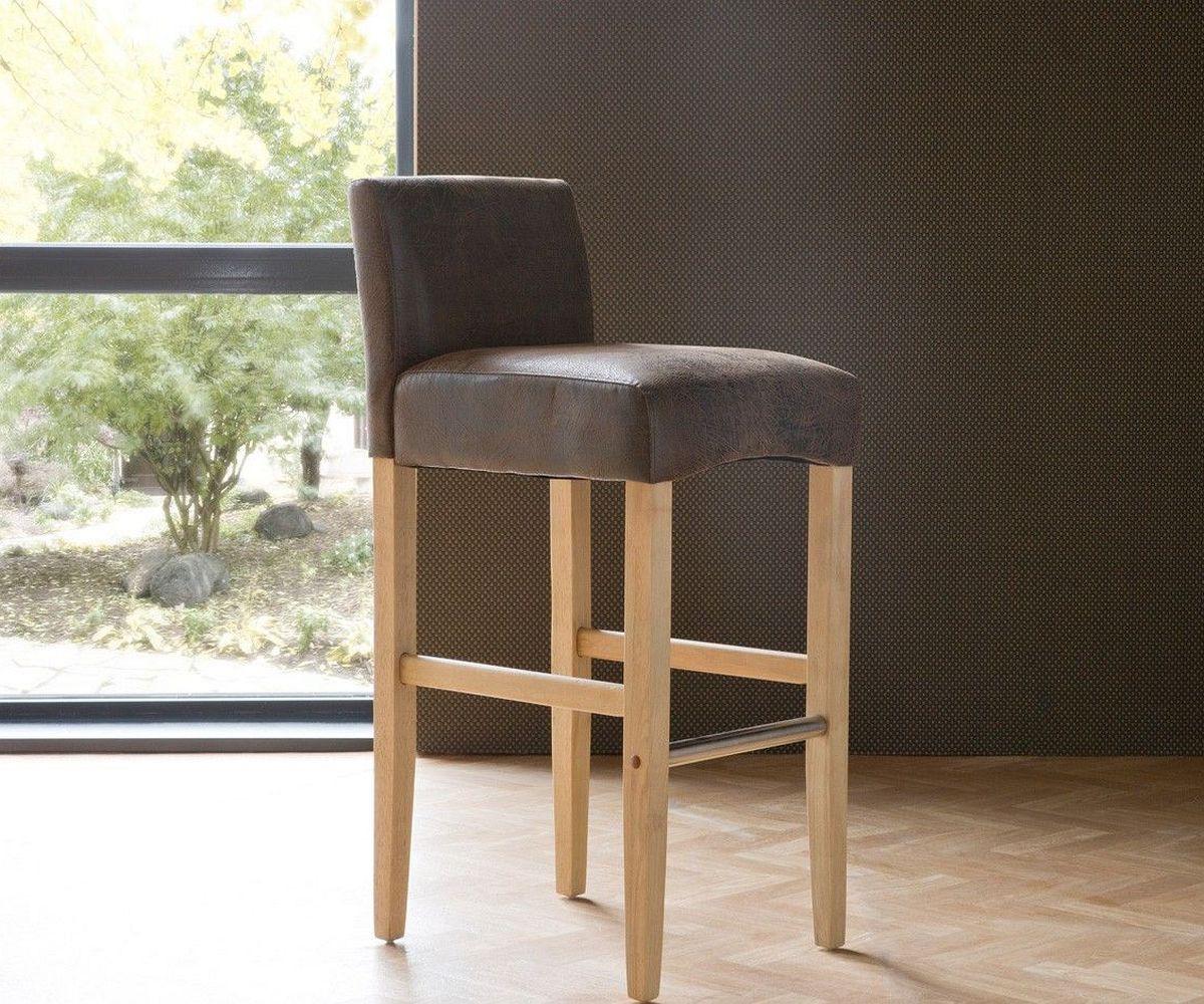 preisvergleich eu barhocker mit lehne braun. Black Bedroom Furniture Sets. Home Design Ideas