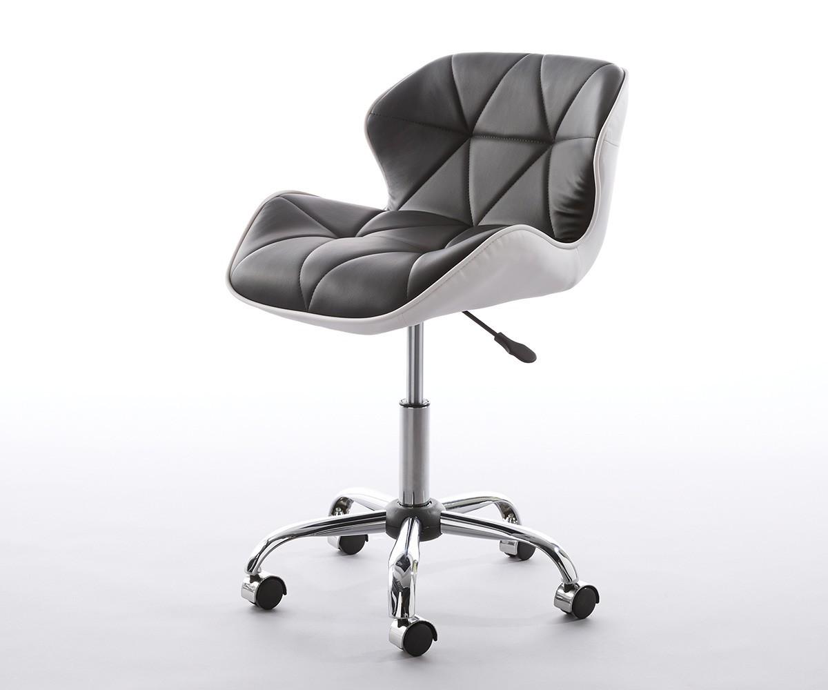 Schreibtischstuhl schwarz weiß  Schreibtischstuhl Raiko Schwarz Weiss drehbar höhenverstellbar   eBay
