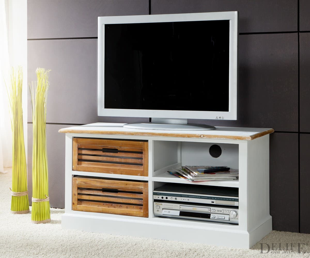 tv rack yolanda weiss 102x43 cm tv tisch teilmassiv ebay. Black Bedroom Furniture Sets. Home Design Ideas