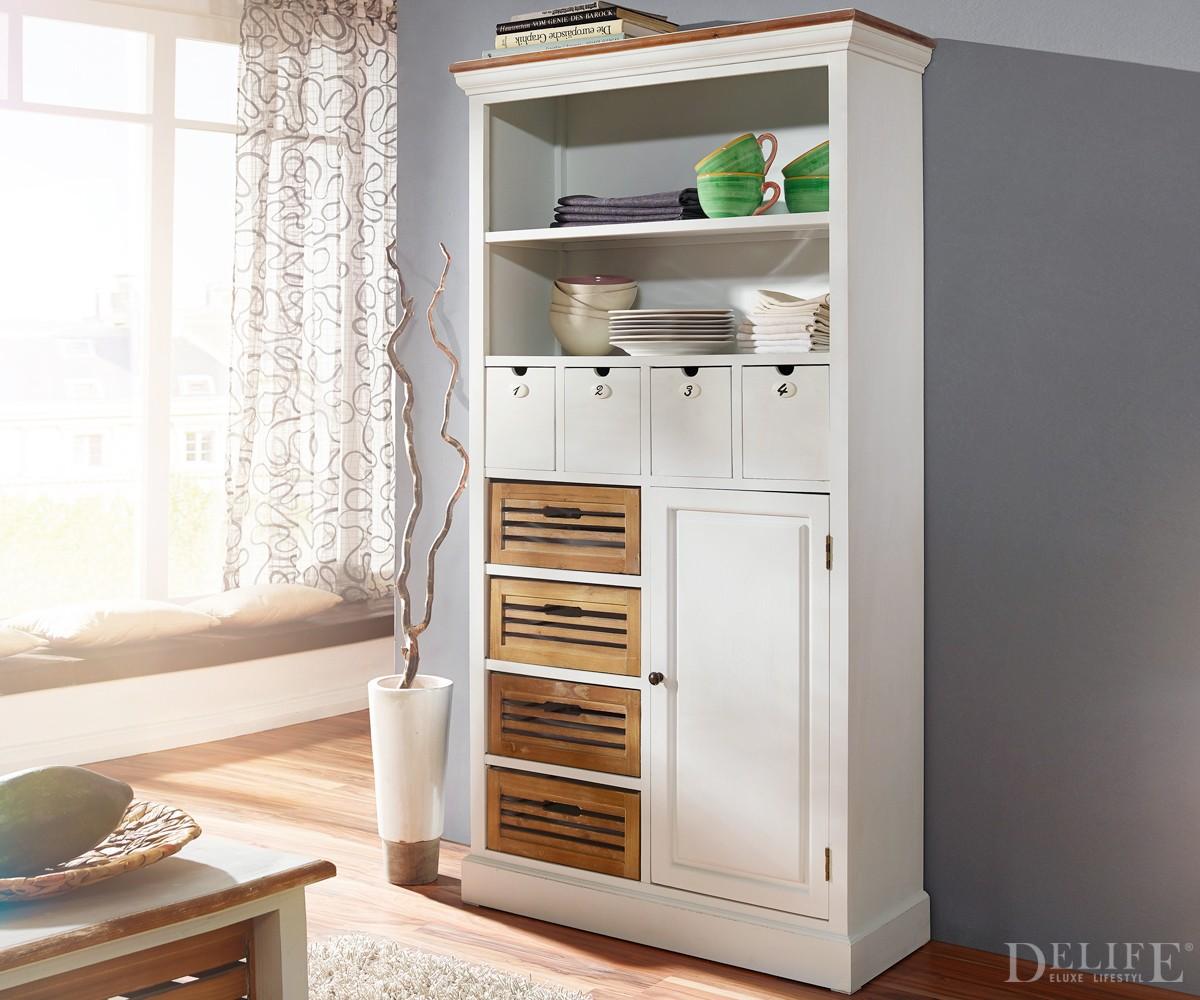 hochschrank yolanda 88x186 cm weiss teilmassiv. Black Bedroom Furniture Sets. Home Design Ideas