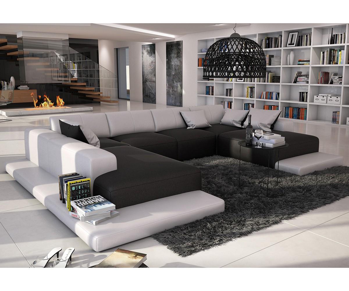 wohnlandschaft braun wei. Black Bedroom Furniture Sets. Home Design Ideas