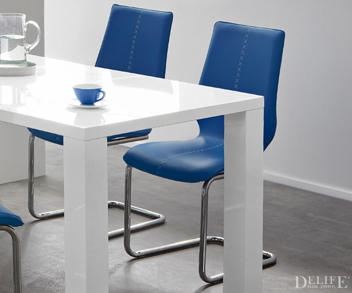 esszimmerst hle blau m belideen. Black Bedroom Furniture Sets. Home Design Ideas