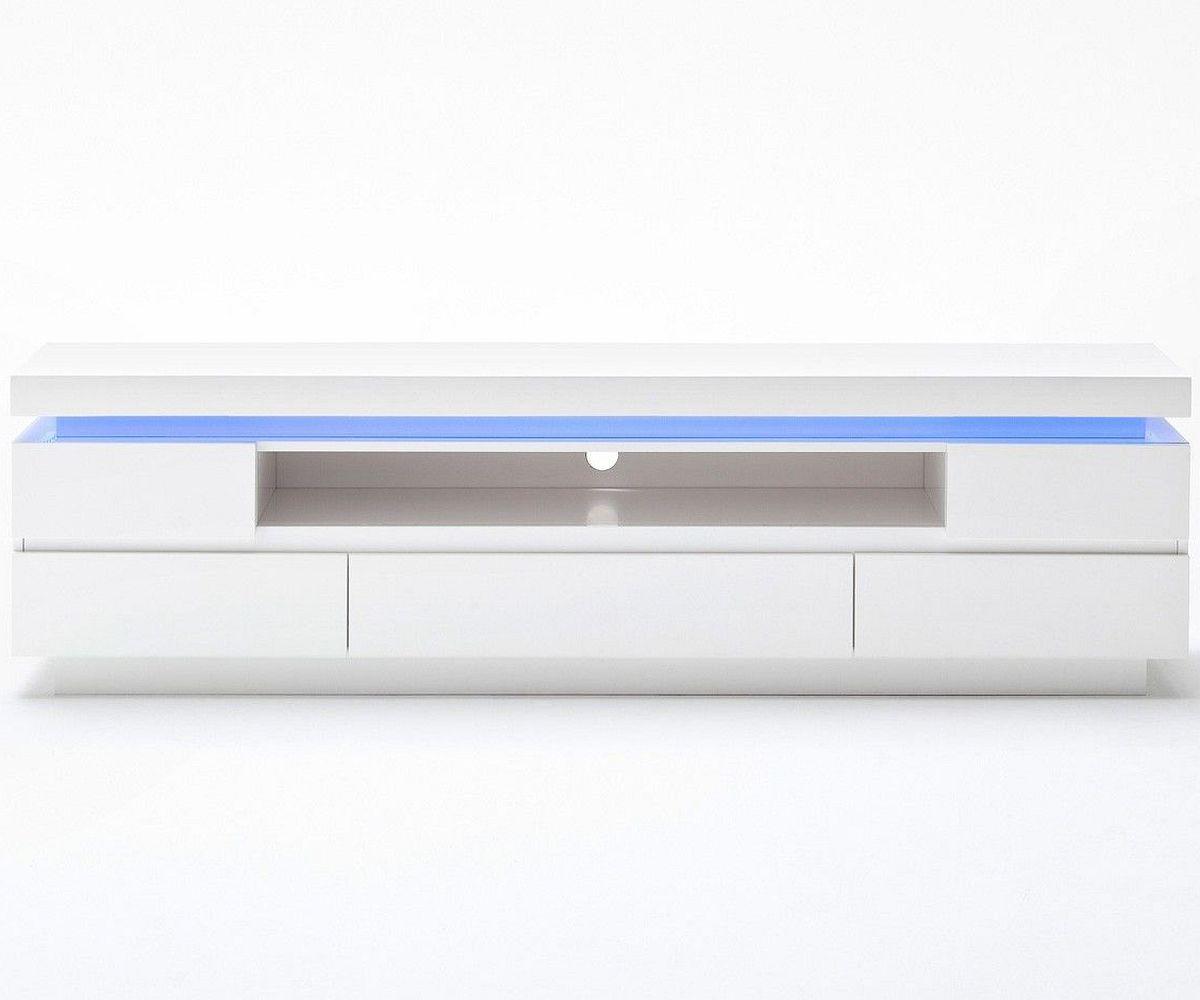 tv tisch hochglanz weiss mit 4 schubladen und glasplatte cana weiss. Black Bedroom Furniture Sets. Home Design Ideas