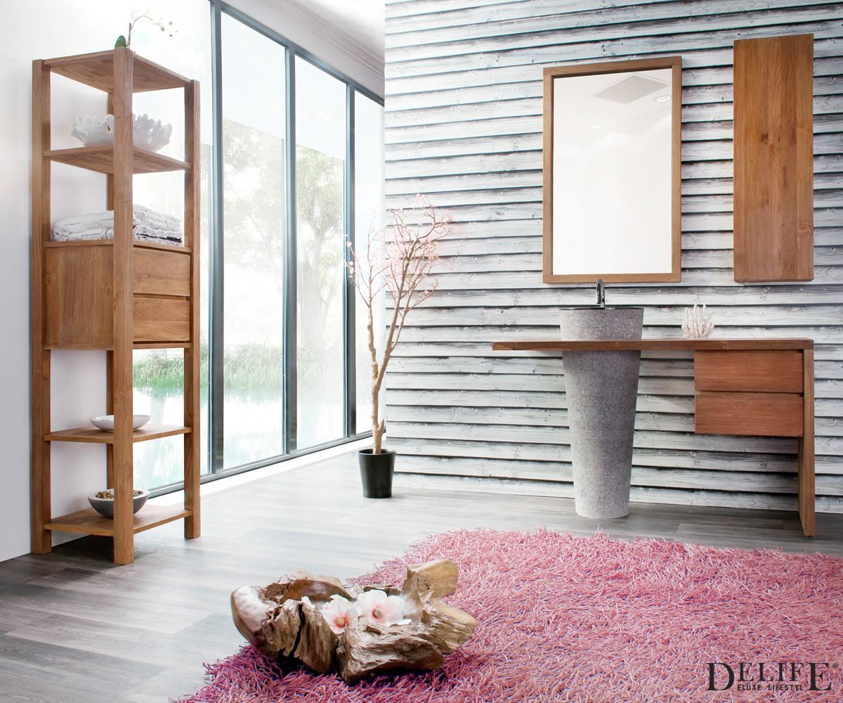 badm bel izet teakholz spiegel regal schrank waschtisch. Black Bedroom Furniture Sets. Home Design Ideas