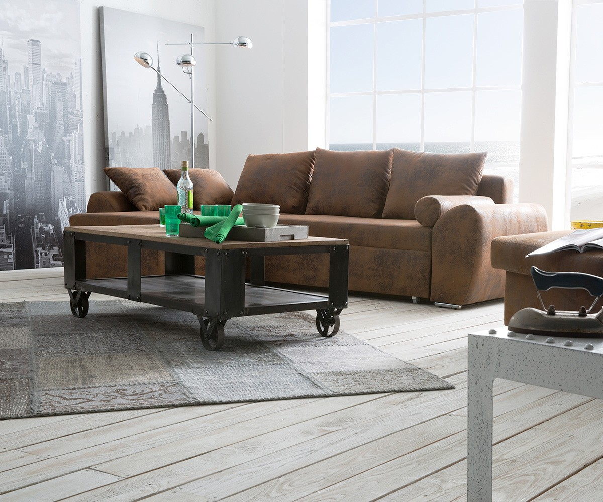 ecksofa rudy 260x160 cm braun ottomane variabel m bel sofas ecksofas. Black Bedroom Furniture Sets. Home Design Ideas