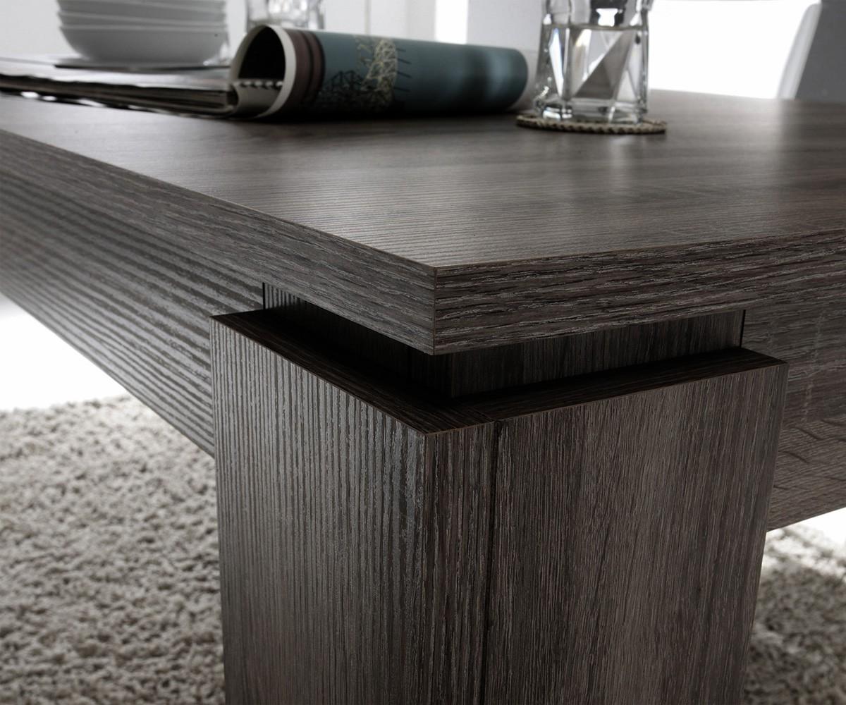 Esstisch ausziehbar grau  Esstisch Ustino Esche Grau Dekor 160/200x90 cm ausziehbar | eBay