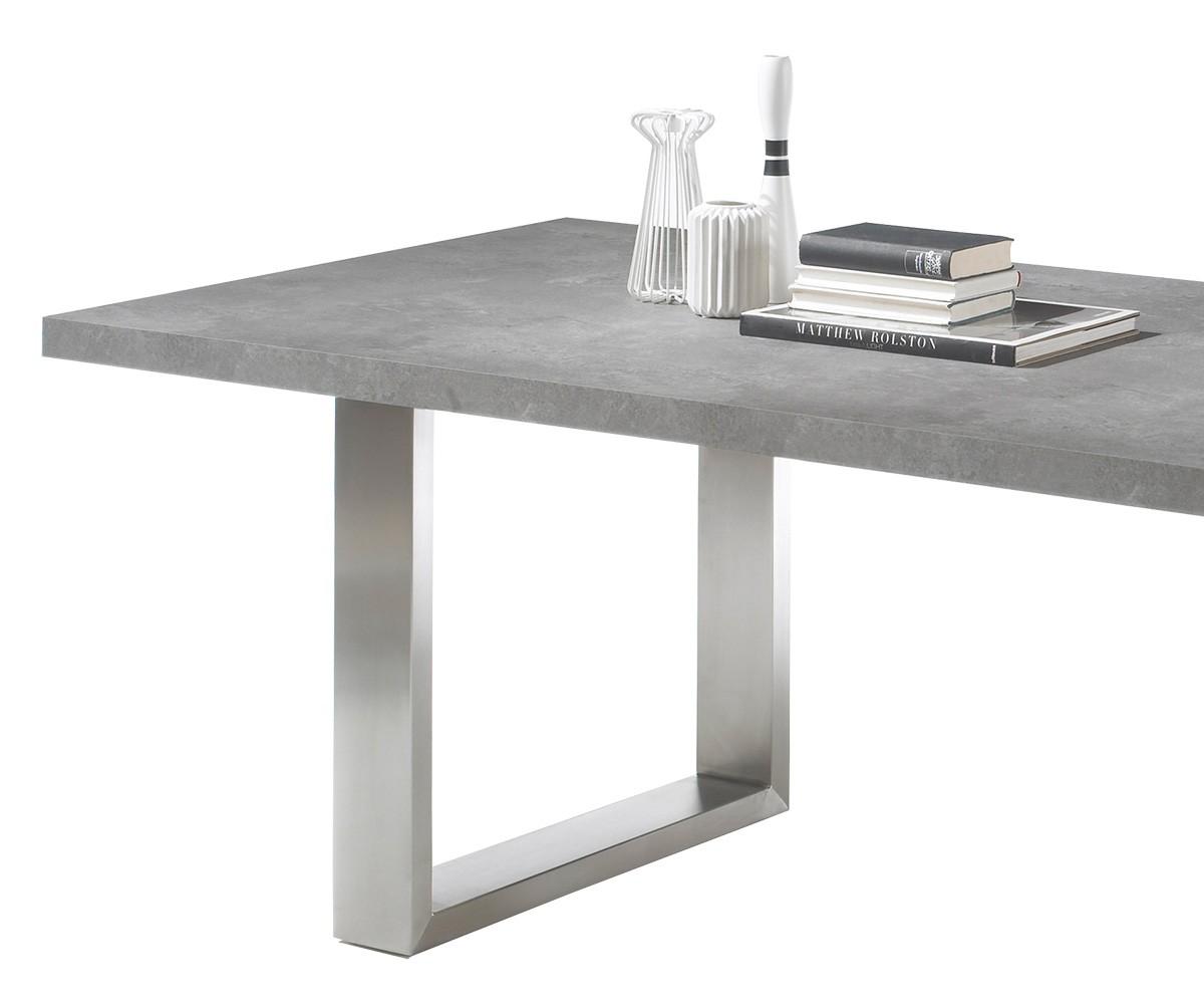 Esszimmertisch in betonoptik ausziehbar beste bildideen for Esszimmertisch eiche ausziehbar