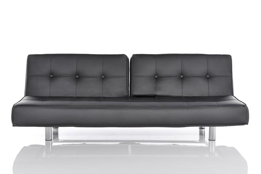 schlafsofa neo schwarz napalon leder designer couch. Black Bedroom Furniture Sets. Home Design Ideas