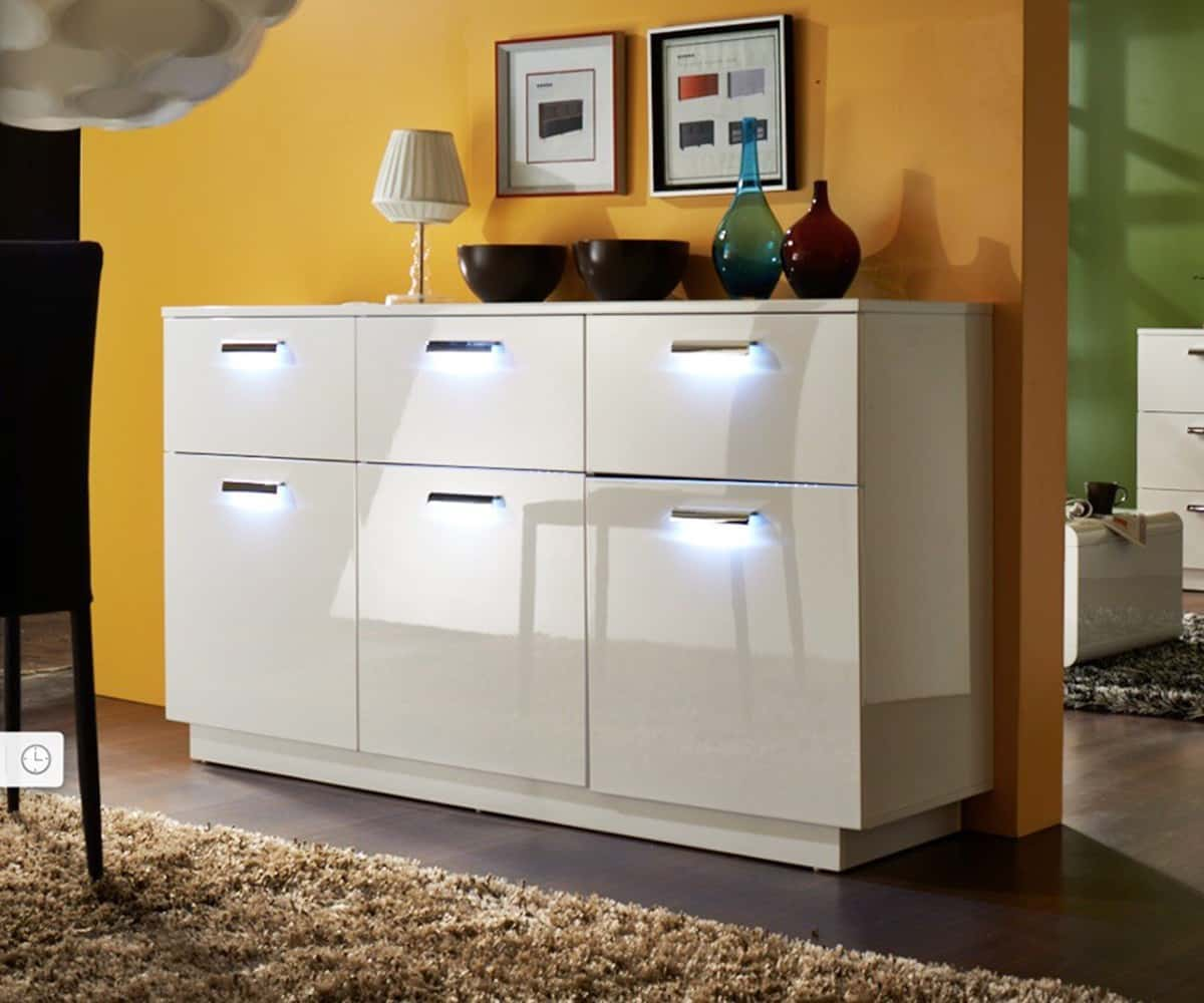preisvergleich eu sideboard hochglanz led. Black Bedroom Furniture Sets. Home Design Ideas