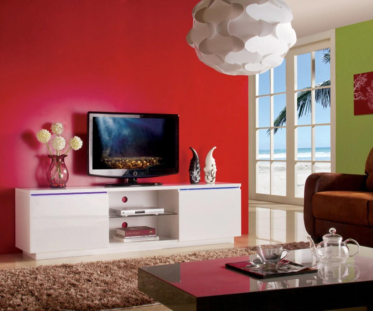 preisvergleich eu tv lowboard wei led. Black Bedroom Furniture Sets. Home Design Ideas