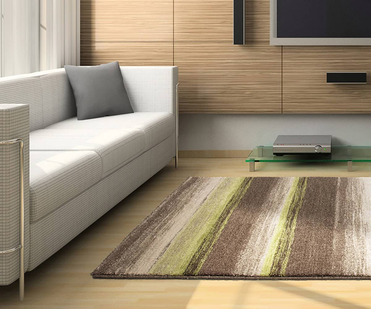 Teppich grün braun