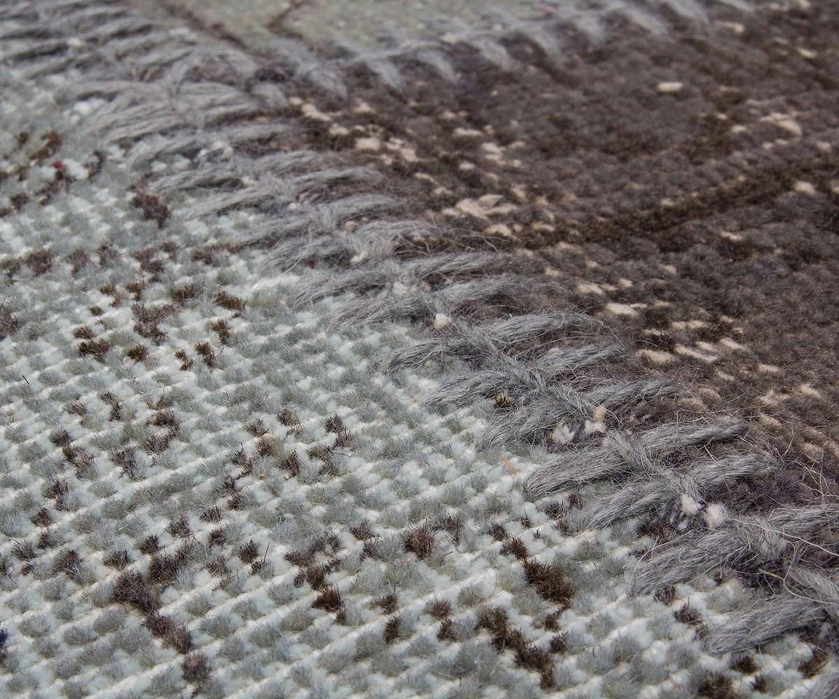 Teppich Sienna 160×230 cm Grau Wolle Patchwork Möbel