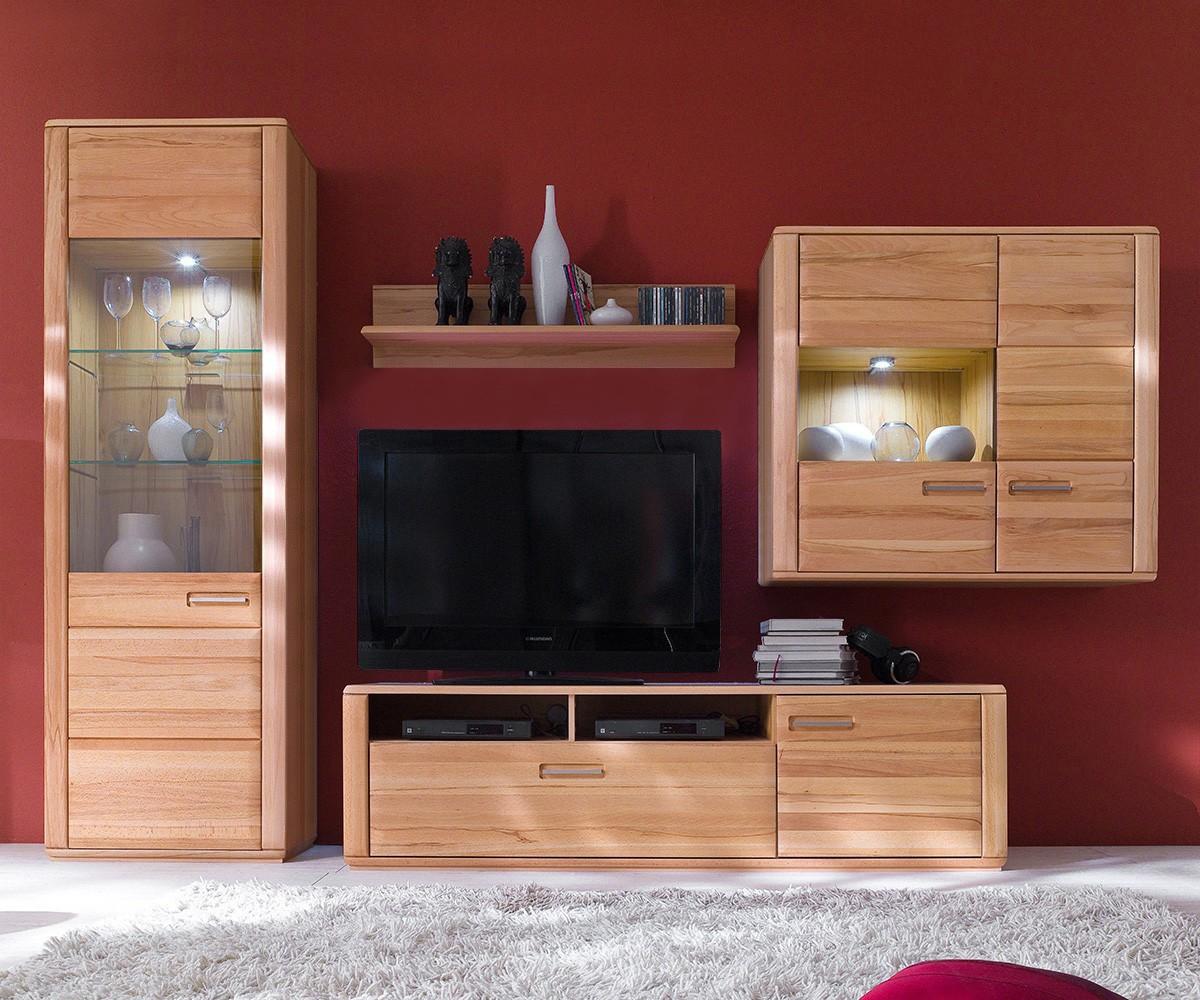 wohnwand buche teilmassiv home design und m bel. Black Bedroom Furniture Sets. Home Design Ideas