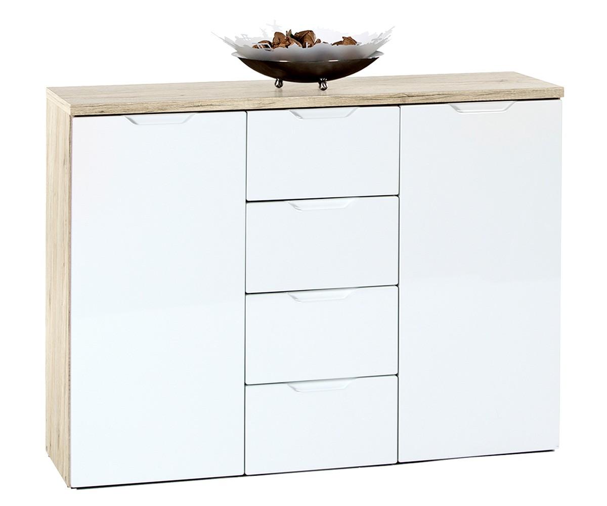 preisvergleich eu highboard eiche. Black Bedroom Furniture Sets. Home Design Ideas